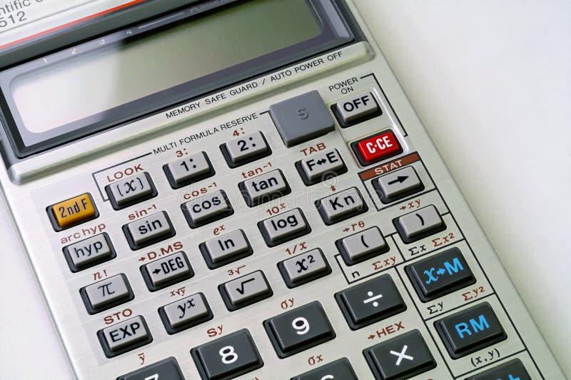 Calculadora científica fotografía de archivo libre de regalías