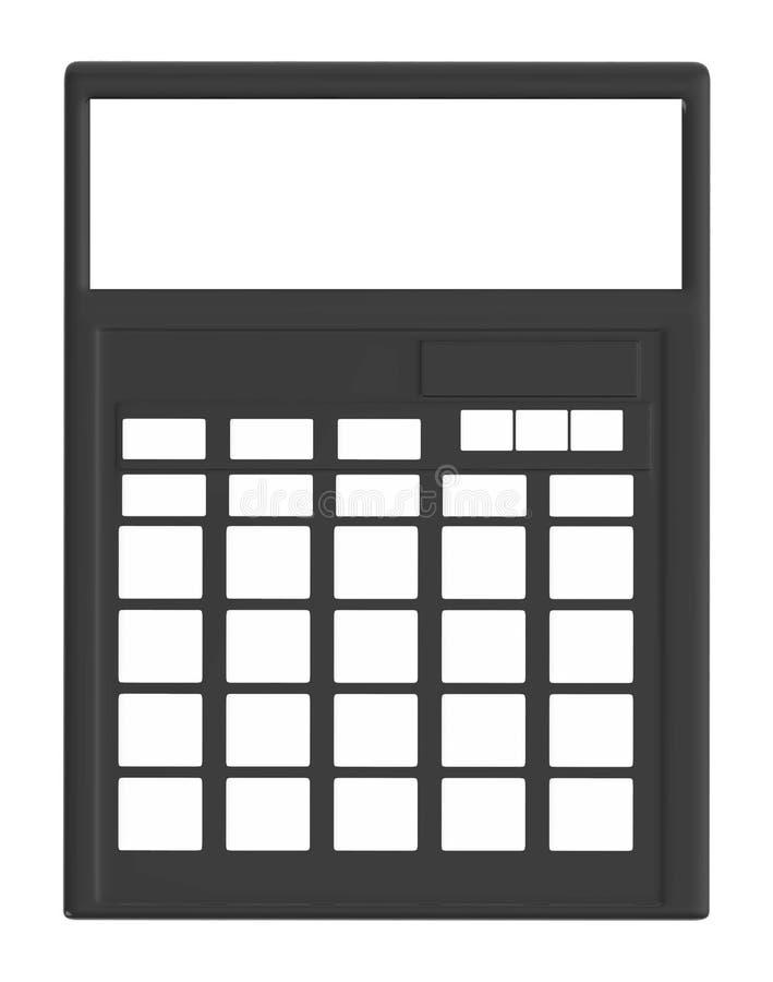 calculadora 3D ilustração do vetor