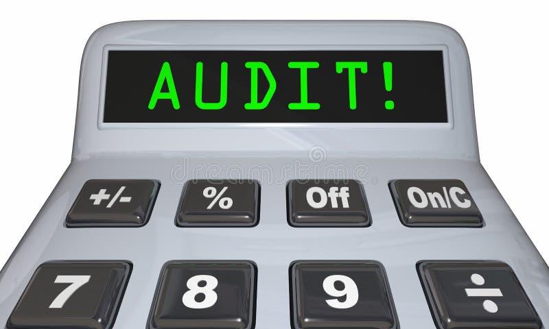Calculadora da contabilidade da revisão financeira da auditoria ilustração do vetor