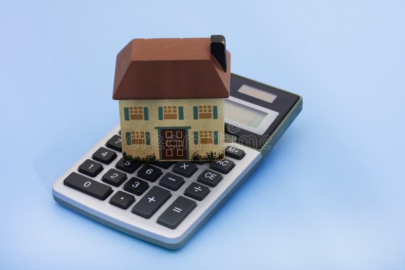 Calculadora da hipoteca fotos de stock