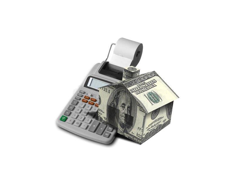 Calculadora da hipoteca imagens de stock royalty free