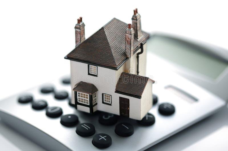 Calculadora da hipoteca fotografia de stock