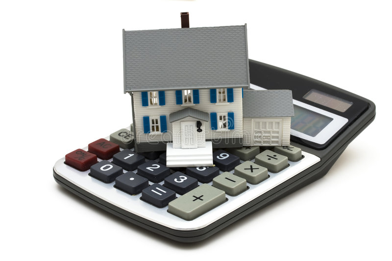 Calculadora da hipoteca foto de stock