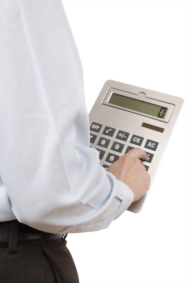 Calculadora de bolsillo imagen de archivo libre de regalías