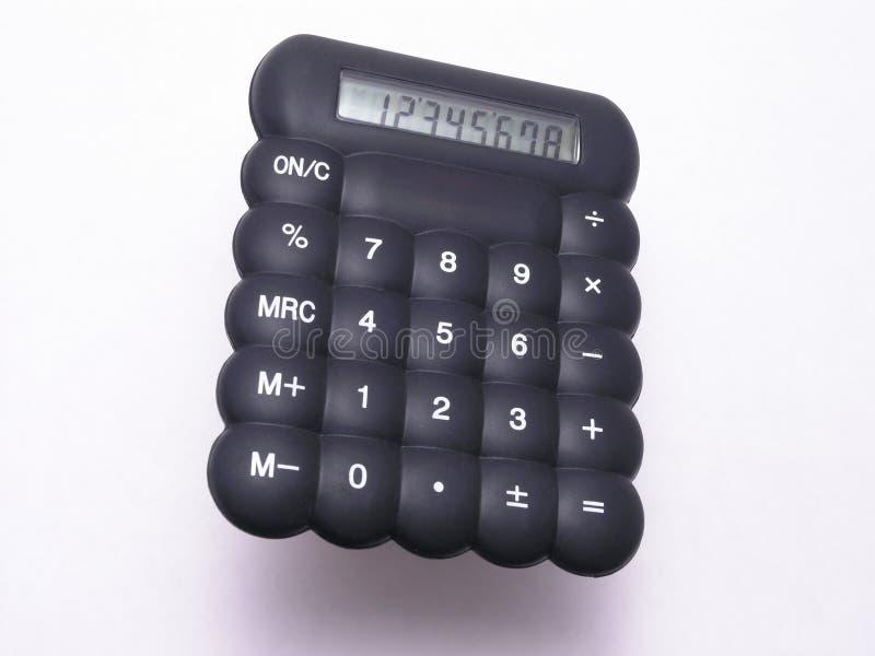 Calculadora de borracha preta 1 fotos de stock royalty free