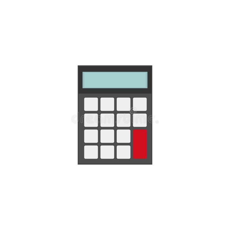 Calculadora Calculadora de la escuela y de la oficina Fondo blanco Ilustración del vector EPS 10 ilustración del vector