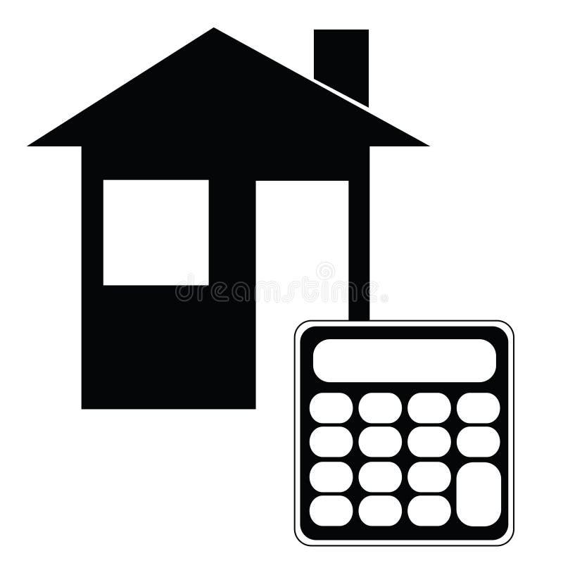 Calculadora de la hipoteca ilustración del vector