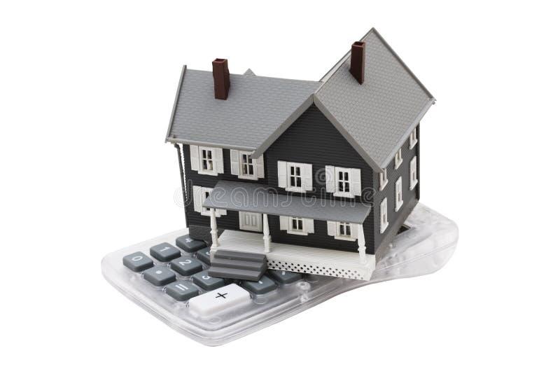 Calculadora de la hipoteca foto de archivo libre de regalías