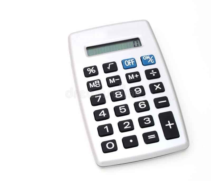 Calculadora de prata imagens de stock
