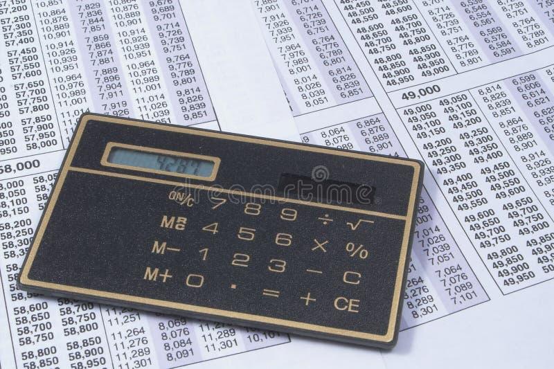 Calculadora del asunto imagen de archivo