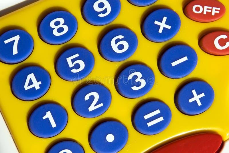 Calculadora divertida foto de archivo