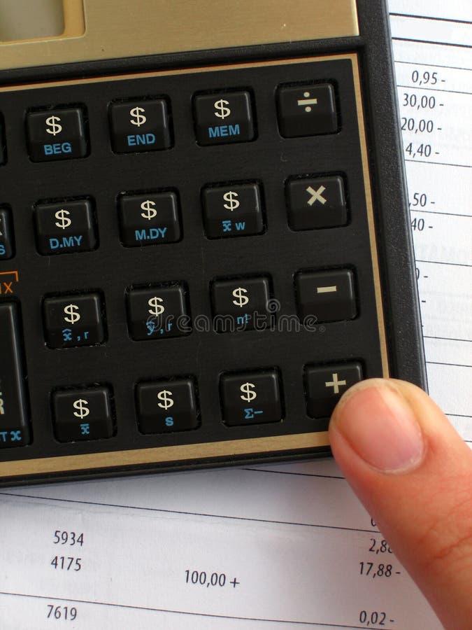 Calculadora do lucro foto de stock