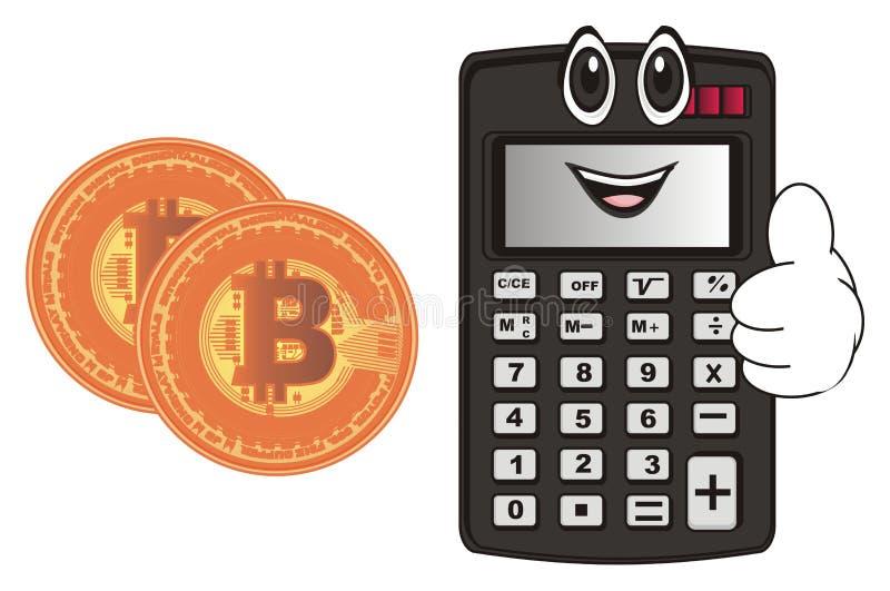 Calculadora e dinheiro felizes ilustração royalty free