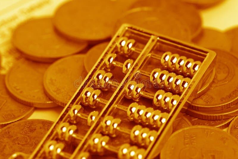 Calculadora e moeda chinesas imagens de stock