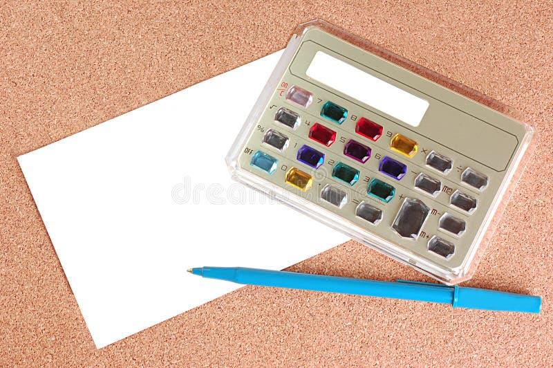 Calculadora electrónica con estilo imágenes de archivo libres de regalías