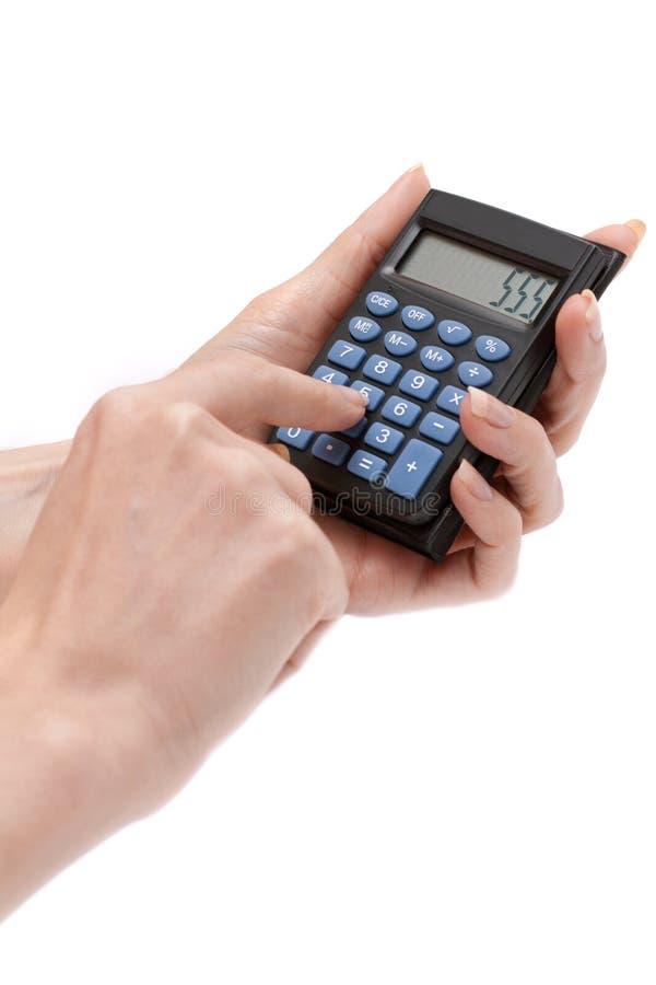 Calculadora En Mano Femenina Foto de archivo - Imagen de número ...