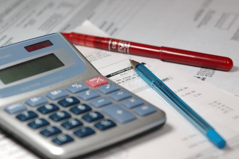 Calculadora financiera foto de archivo libre de regalías