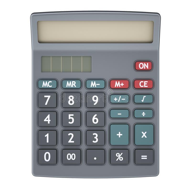Calculadora isolada no branco fotos de stock