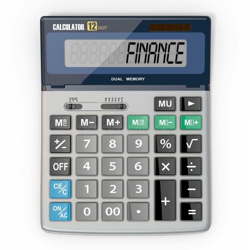 Calculadora no fundo branco ilustração royalty free
