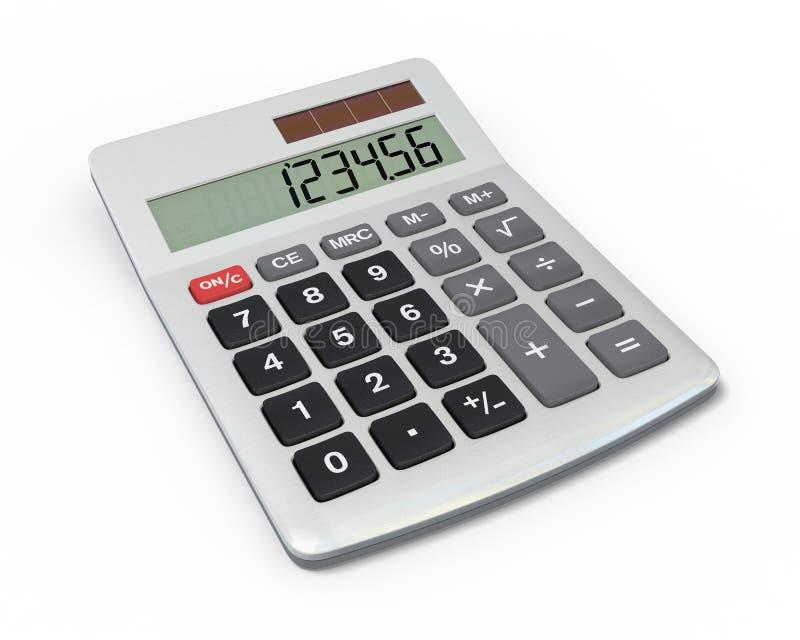 Calculadora, opinião do close-up ilustração stock