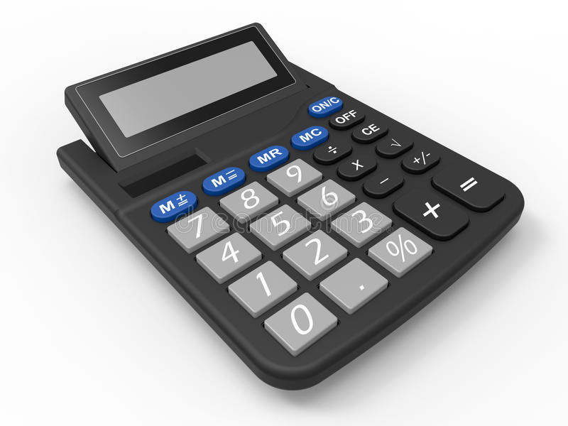 Calculadora preta ilustração do vetor