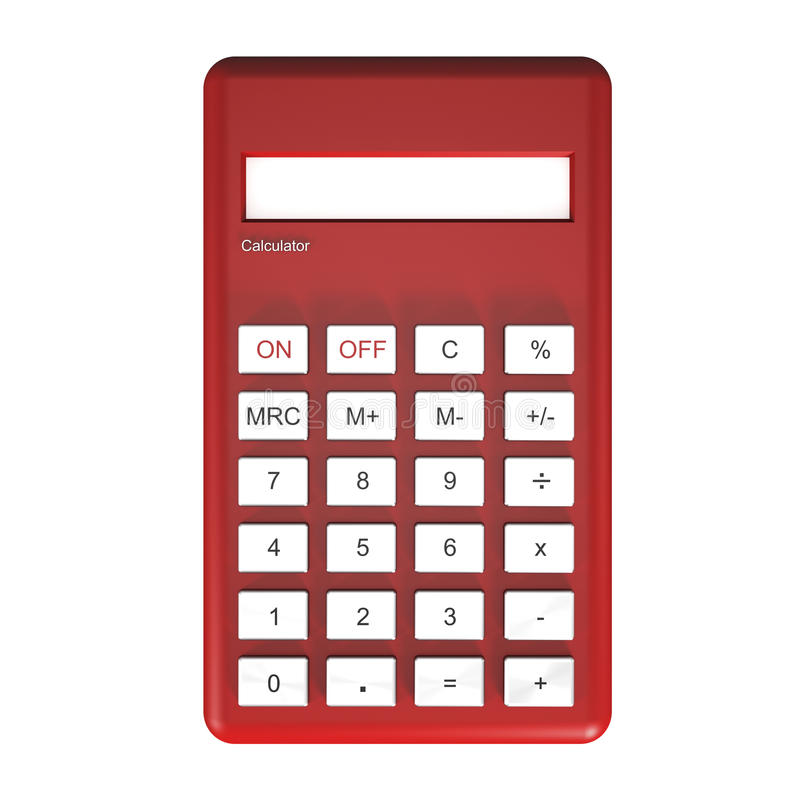 Calculadora roja libre illustration