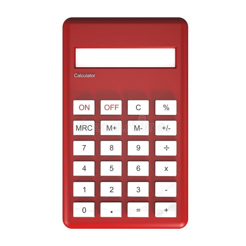 Calculadora vermelha ilustração royalty free