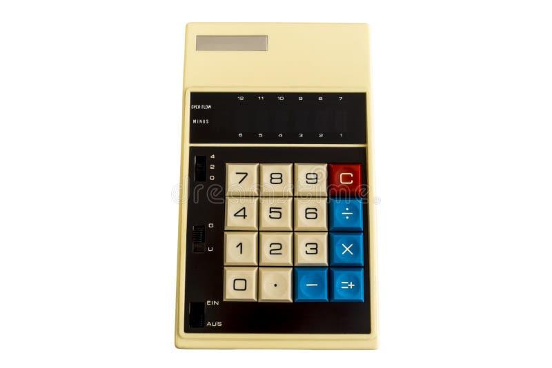 Calculadora vieja de Digitaces foto de archivo libre de regalías