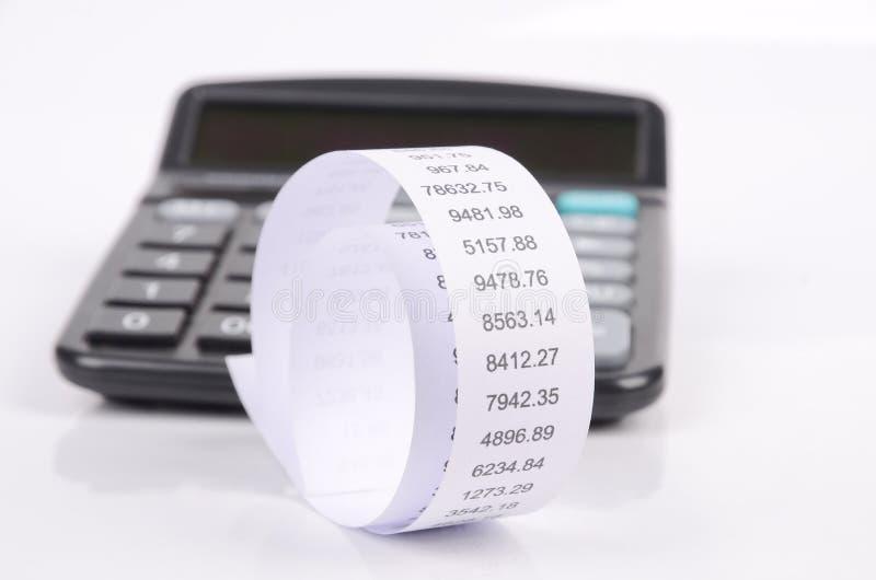 Calculadora y cuenta fotos de archivo libres de regalías