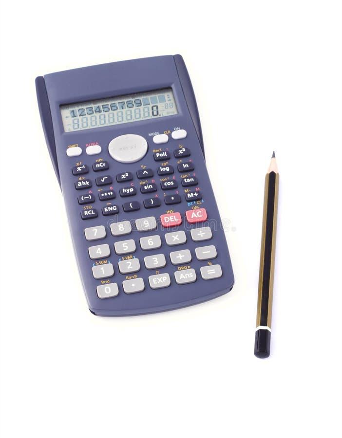 Download Calculadora Y Lápiz Científicos Foto de archivo - Imagen de numérico, aislado: 7151790