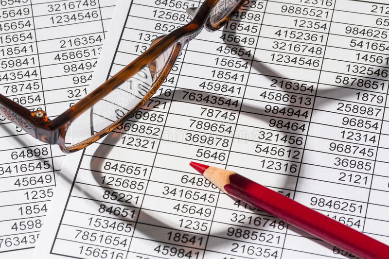 Calculadoras e statistk fotografia de stock royalty free