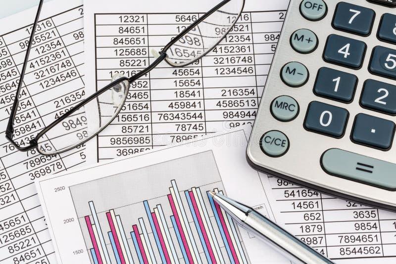 Calculadoras e statistk imagens de stock royalty free