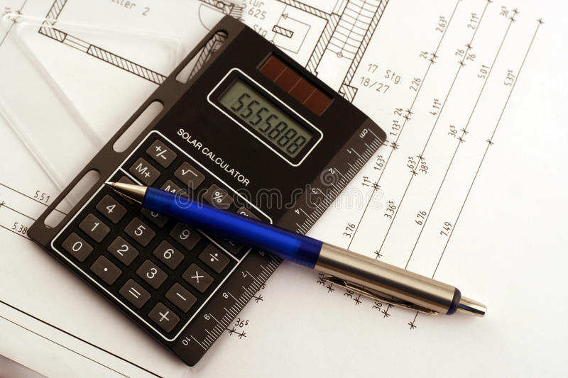 Download Calculate stock image. Image of drawing, plan, board - 13610895