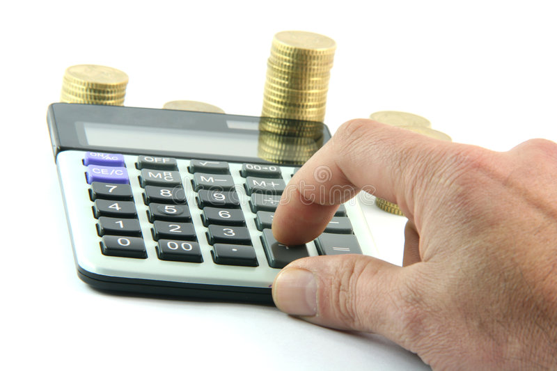 Download Calculating stock image. Image of adding, gold, concept - 4622087