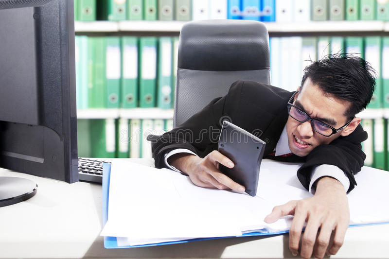 Download Calculating Budget stock photo. Image of holding, calculation - 25395072