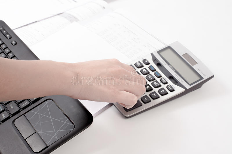 Calculating for a business account royalty free stock images
