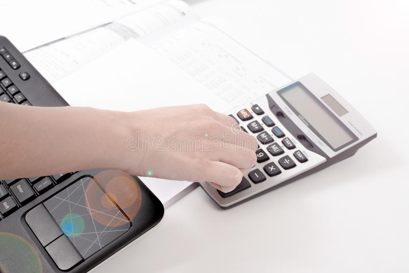 Calculating for a business account royalty free stock photography