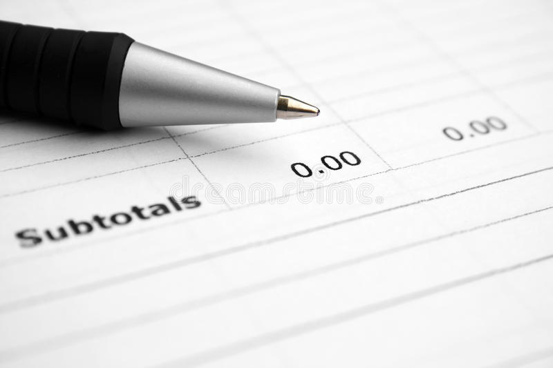 Download Calculating totals stock image. Image of business, document - 15540457