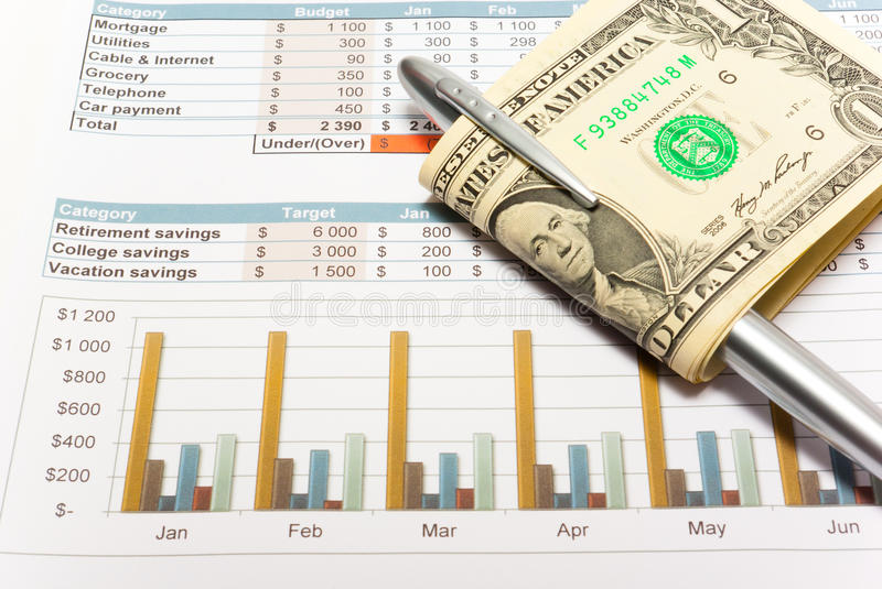 Download Calculation Of House Budget. Stock Image - Image of chart, dollars: 32111697
