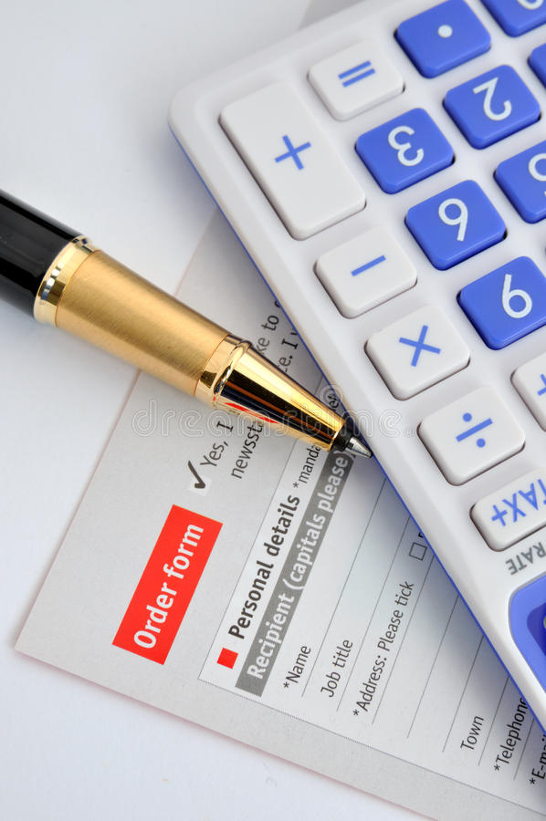 Calculation And Put An Order Royalty Free Stock Photo