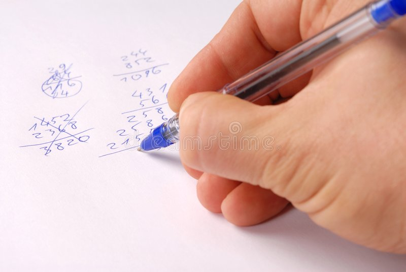 Download Calculations stock image. Image of ballpen, business, education - 4536771