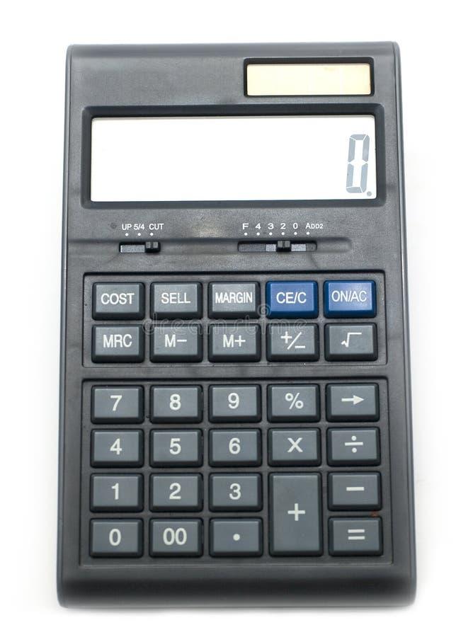 Calculator. Isolated on white background stock photo