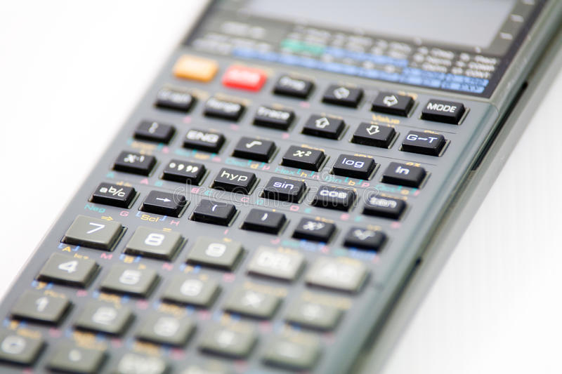 Calculator. Isolated graphic calculator in a white background royalty free stock photos