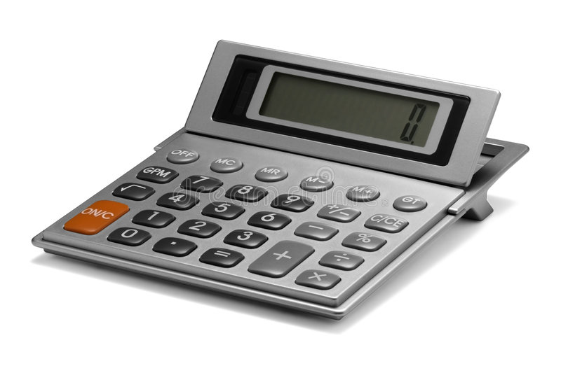 Calculator. A Calculator isolated on a white background stock photography