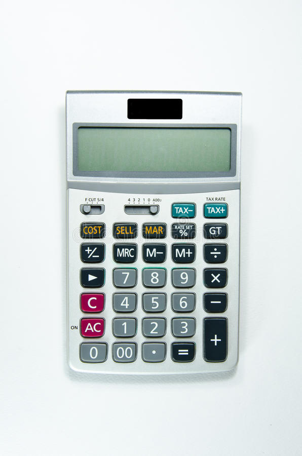 Calculator. As a tool for mathematical calculations stock photography