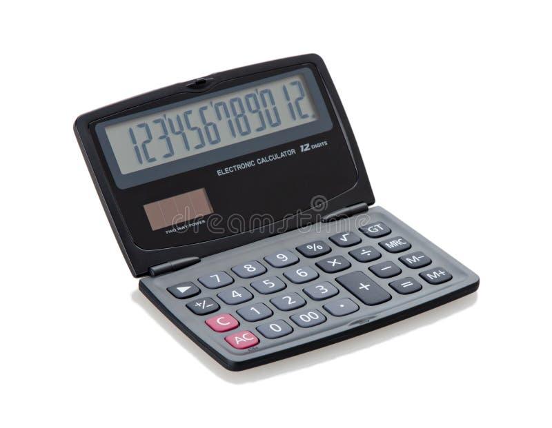 Calculator. Solar cell and battery calculator small compact and portable stock photos