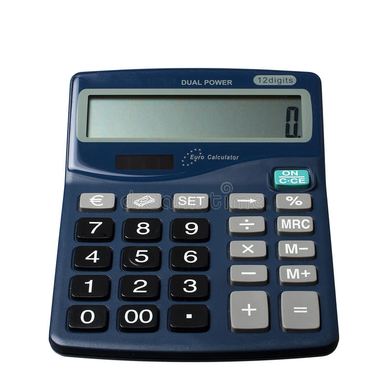 Download Calculator stock image. Image of math, adding, euro, isolated - 23310427