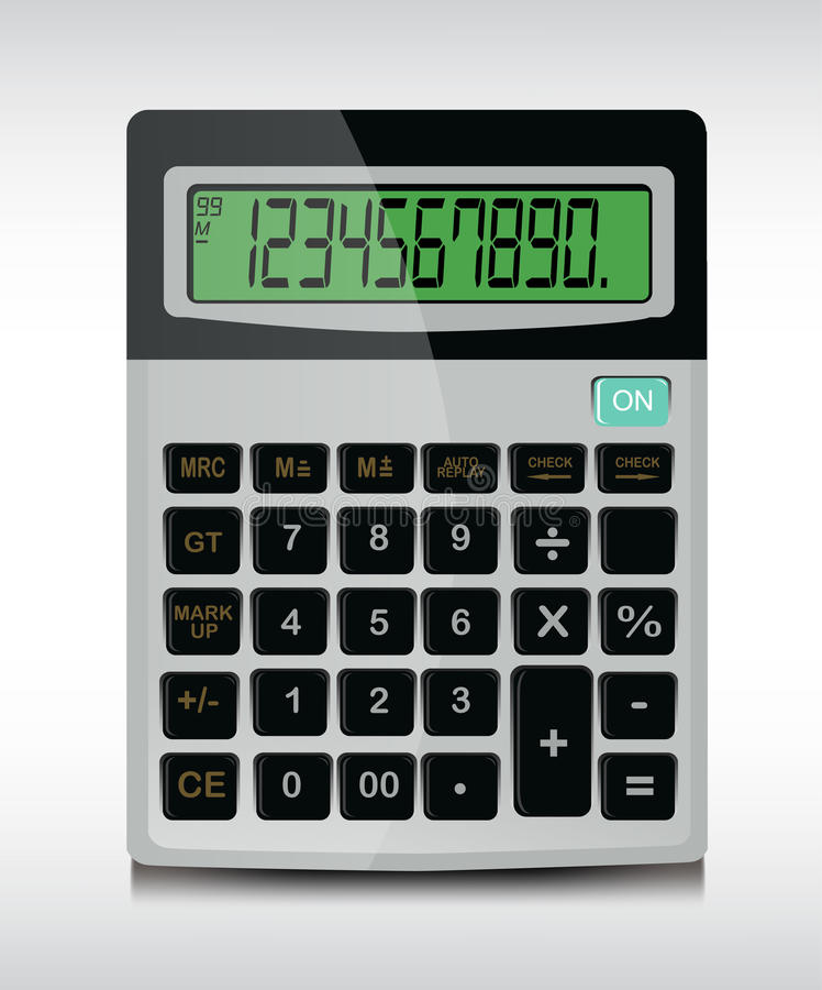 Download Calculator stock vector. Image of economy, report, silver - 25076308