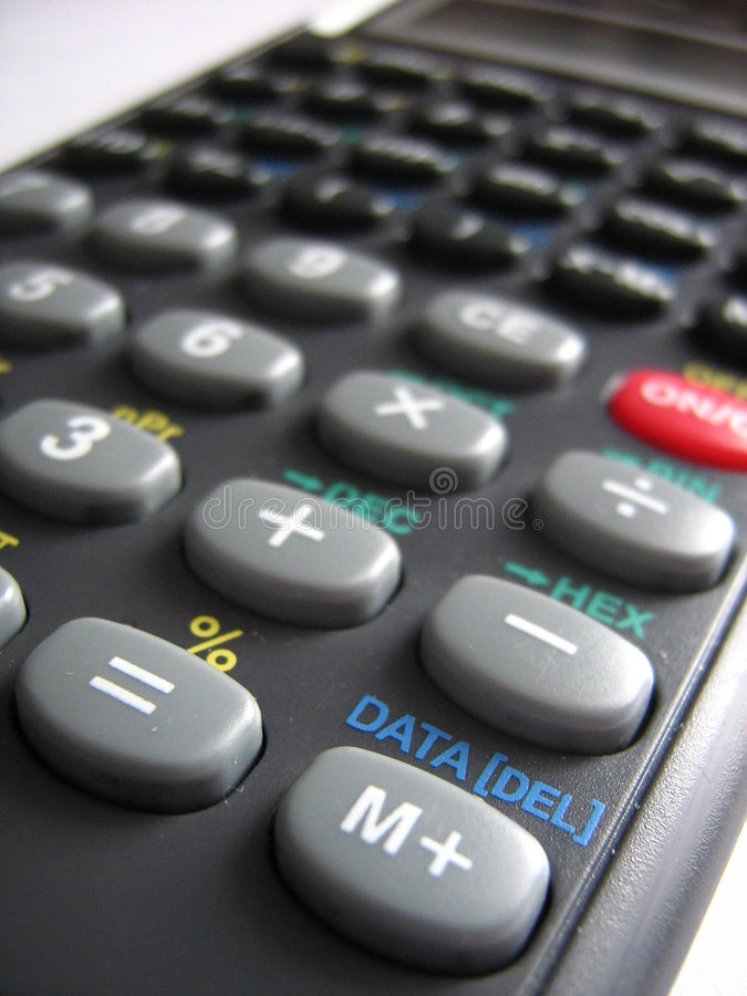 Calculator stock afbeelding