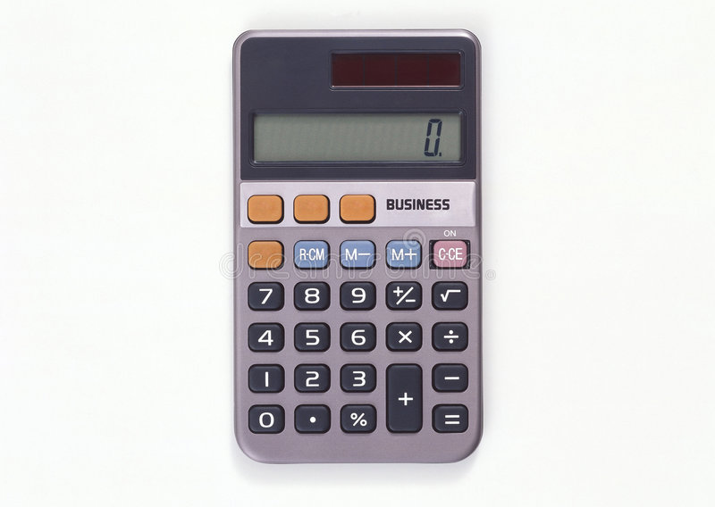 Calculator. Professional business calculator isolated on white background royalty free stock photos